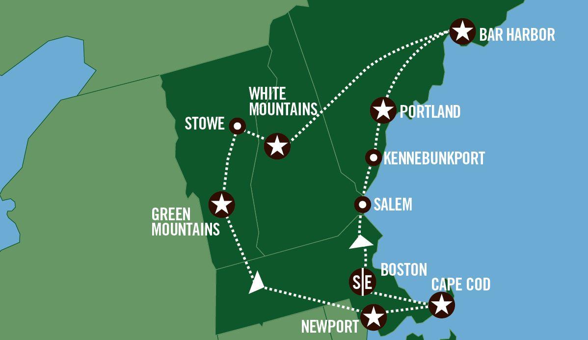 Rundreise med buss i USA Colors Of New England USA Spesialisten
